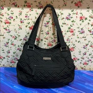 NWOT Vera Bradley Black Quilted Shoulder Bag